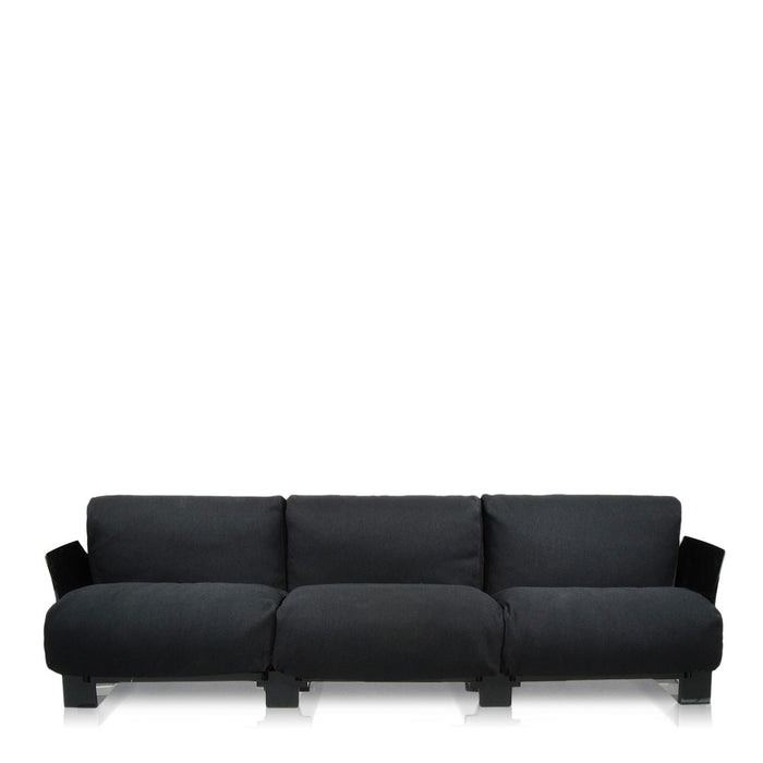 Buy online latest and high quality Pop Trevira Sofa Triple Seat With Black Frame from Kartell | Modern Lighting + Decor