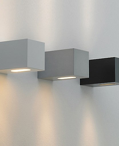 qp90 square outdoor wall sconce from OneLED by F-Sign | Modern Lighting + Decor