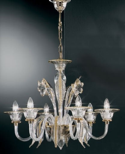 Murano 301/6 Chandelier from VetriLamp Murano | Modern Lighting + Decor
