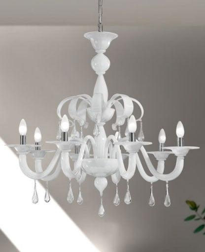 Murano 1184/8 Chandelier from VetriLamp Murano | Modern Lighting + Decor