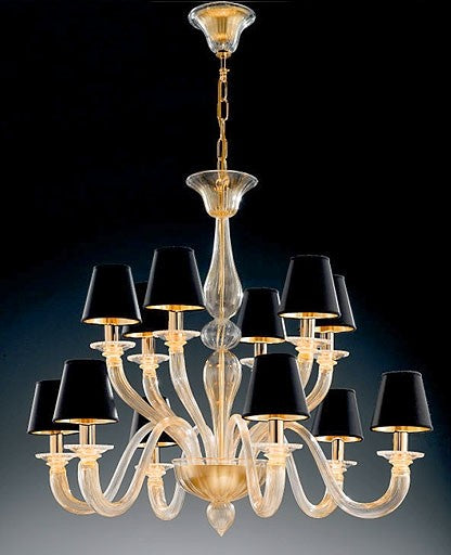 Buy online latest and high quality Murano 1151/6+6 Chandelier from VetriLamp Murano | Modern Lighting + Decor