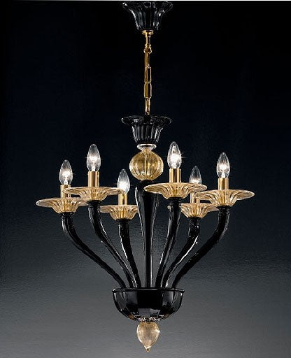 Murano 1152/6 Alto Chandelier from VetriLamp Murano | Modern Lighting + Decor
