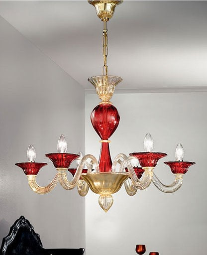 Murano 1155/6 Chandelier from VetriLamp Murano | Modern Lighting + Decor