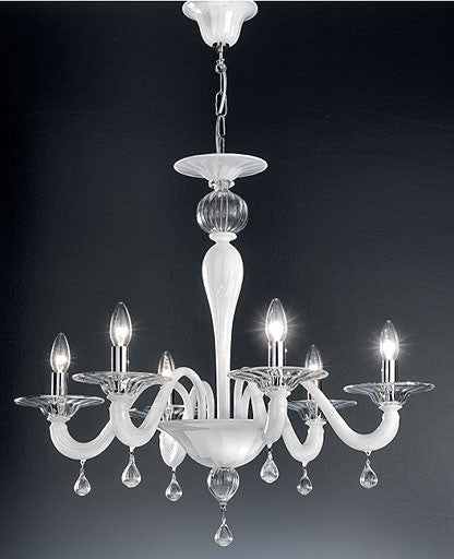 Murano 927/6 Chandelier from VetriLamp Murano | Modern Lighting + Decor