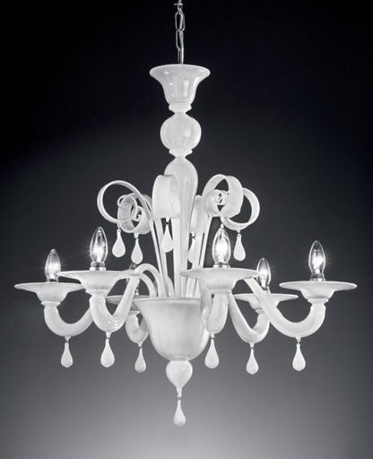 Murano 911/6 Chandelier from VetriLamp Murano | Modern Lighting + Decor