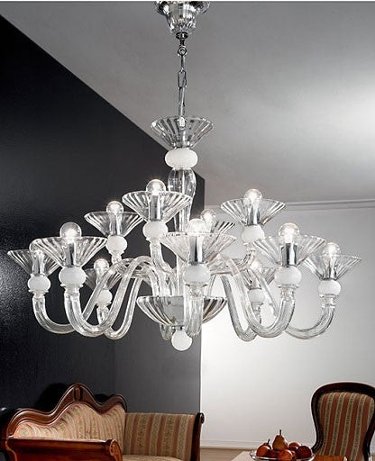 Murano 1153/8+4 Chandelier from VetriLamp Murano | Modern Lighting + Decor