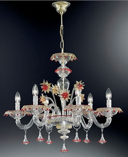 Murano 922/6 Chandelier from VetriLamp Murano | Modern Lighting + Decor
