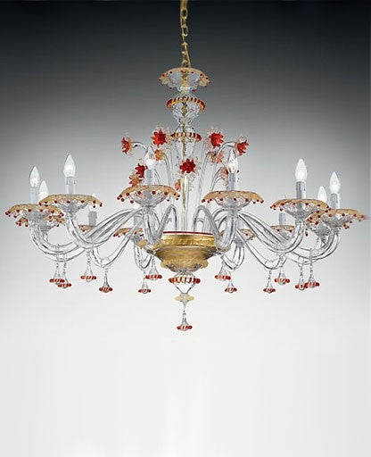 Murano 922/12 Chandelier from VetriLamp Murano | Modern Lighting + Decor