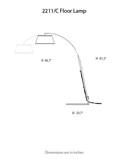 Buy online latest and high quality 2211 Floor Lamp from ITALAMP | Modern Lighting + Decor