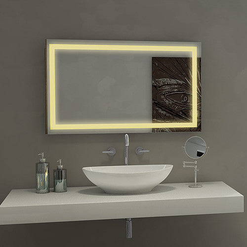 Lighted Mirror Harmony 55 x 36 in from Paris Mirror | Modern Lighting + Decor