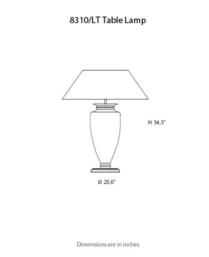 8310 Ambrosia Table Lamp from ITALAMP | Modern Lighting + Decor