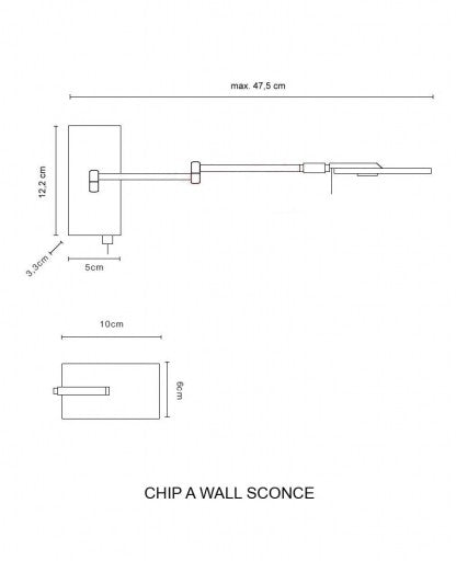Buy online latest and high quality Chip-A Wall Sconce from Decor Walther | Modern Lighting + Decor