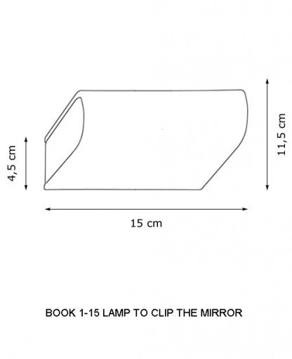 Buy online latest and high quality Book 1-10,1-15,1-40 and 1-60 Lamp to Clip to The Mirror from Decor Walther | Modern Lighting + Decor