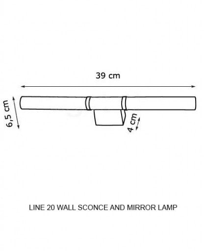 Buy online latest and high quality Line 20 Wall Sconce and Mirror Lamp from Decor Walther | Modern Lighting + Decor
