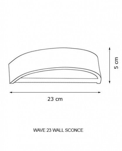 Wave 23 Wall Sconce from Decor Walther | Modern Lighting + Decor