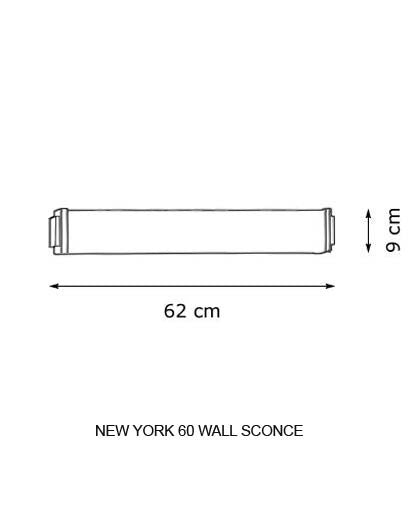 Buy online latest and high quality New York 60 Wall Sconce from Decor Walther | Modern Lighting + Decor