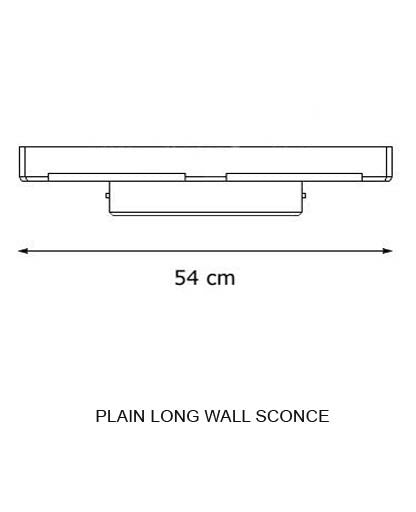 Plain Long Wall Sconce from Decor Walther | Modern Lighting + Decor