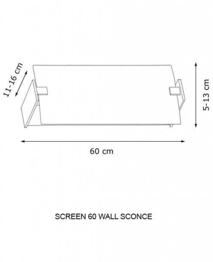 Buy online latest and high quality Screen 60 Wall Sconce from Decor Walther | Modern Lighting + Decor