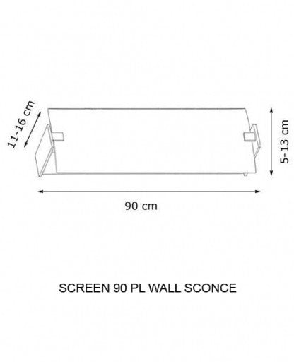 Buy online latest and high quality Screen 90 PL Wall Sconce from Decor Walther | Modern Lighting + Decor