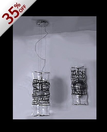 Graffiti pendant light large-black Inventory sale! from Studio Italia Design | Modern Lighting + Decor