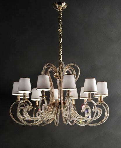 Buy online latest and high quality Crystalry-12 Chandelier from Masiero Luxury | Modern Lighting + Decor