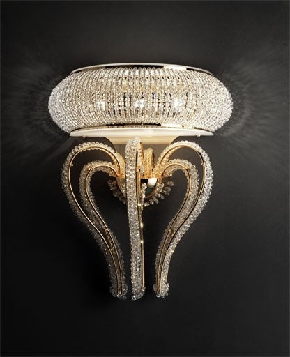 Buy online latest and high quality Crystalry Wall Sconce from Masiero Luxury | Modern Lighting + Decor