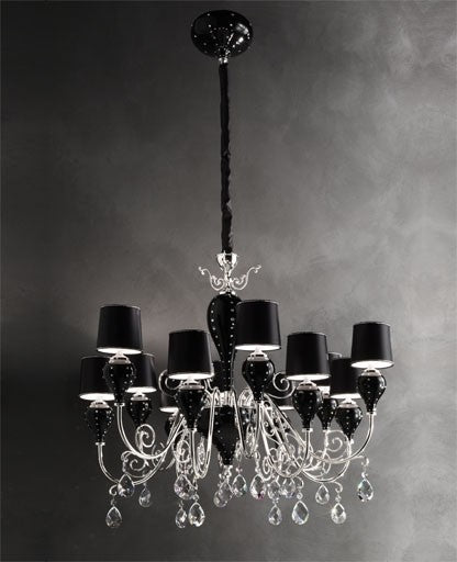 Black Grace Chandelier from Masiero Luxury | Modern Lighting + Decor