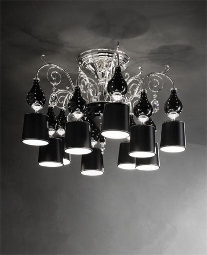 Buy online latest and high quality Black Grace/PL10 Ceiling Light from Masiero Luxury | Modern Lighting + Decor