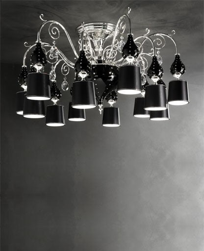 Buy online latest and high quality Black Grace/PL12 Ceiling Light from Masiero Luxury | Modern Lighting + Decor