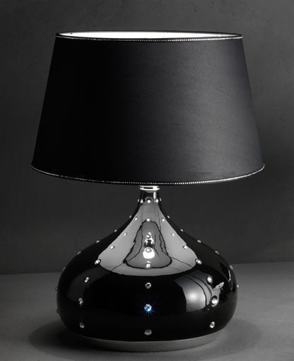 Black Grace Large Table Lamp from Masiero Luxury | Modern Lighting + Decor