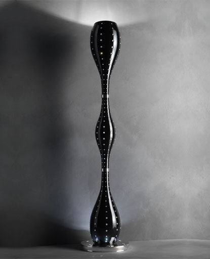 Black Grace Floor Lamp from Masiero Luxury | Modern Lighting + Decor