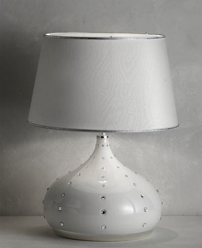 White Grace Large Table Lamp from Masiero Luxury | Modern Lighting + Decor