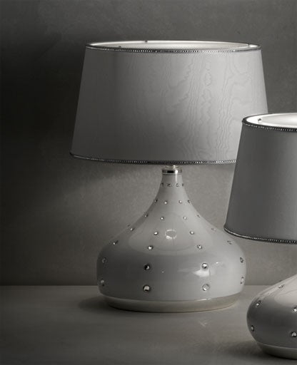 White Grace Medium Table Lamp from Masiero Luxury | Modern Lighting + Decor