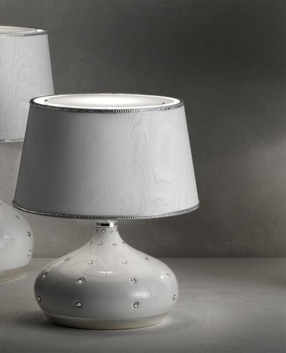 White Grace Small Table Lamp from Masiero Luxury | Modern Lighting + Decor