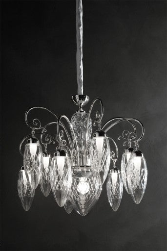 Magnifica 10+1 Chandelier from Masiero Luxury | Modern Lighting + Decor