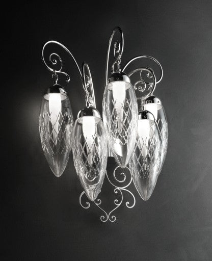 Magnifica/A5 Wall Sconce from Masiero Luxury | Modern Lighting + Decor