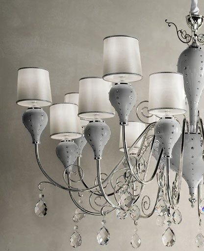 Buy online latest and high quality White Grace-16 Chandelier from Masiero Luxury | Modern Lighting + Decor