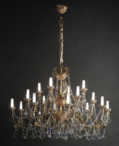 Gold Royale-16 Chandelier from Masiero Luxury | Modern Lighting + Decor
