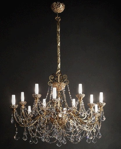 Gold Royale-12 Chandelier from Masiero Luxury | Modern Lighting + Decor