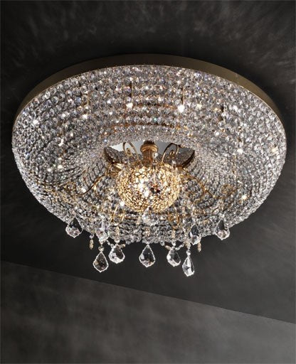 Gold Royale/PL12+3 Ceiling Light from Masiero Luxury | Modern Lighting + Decor