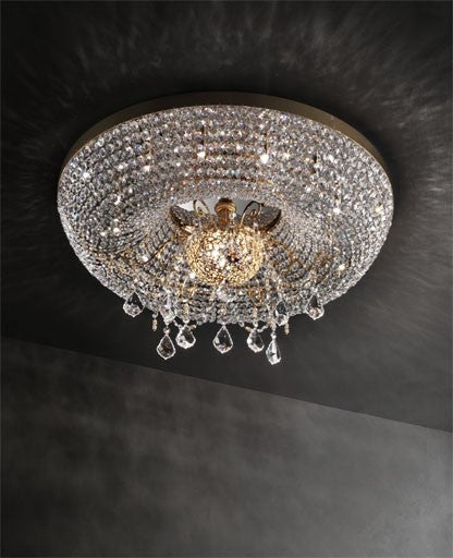 Gold Royale/PL10+2 Ceiling Light from Masiero Luxury | Modern Lighting + Decor