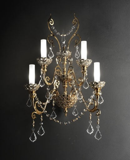 Gold Royale Wall Sconce from Masiero Luxury | Modern Lighting + Decor