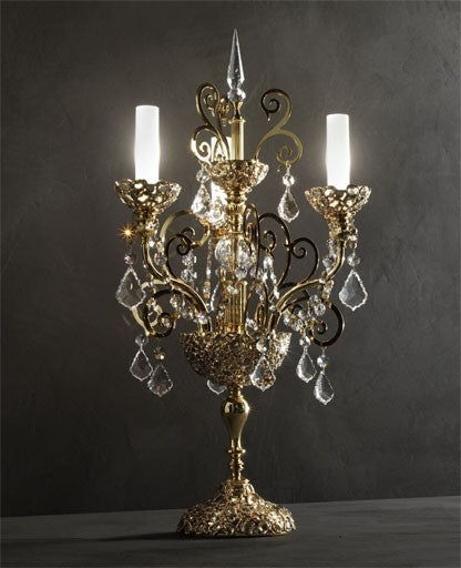 Gold Royale Table Lamp from Masiero Luxury | Modern Lighting + Decor