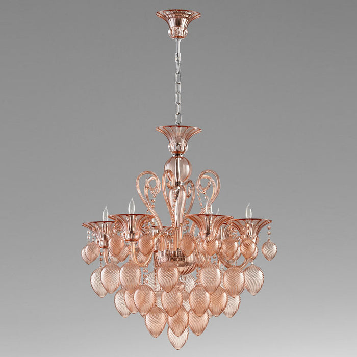 Bella Vetro Small Chandelier | Modern Lighting + Decor