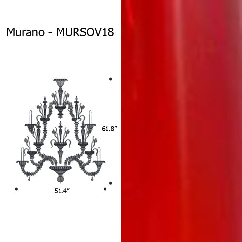 Morano Chandelier from Mazzega 1946 | Modern Lighting + Decor