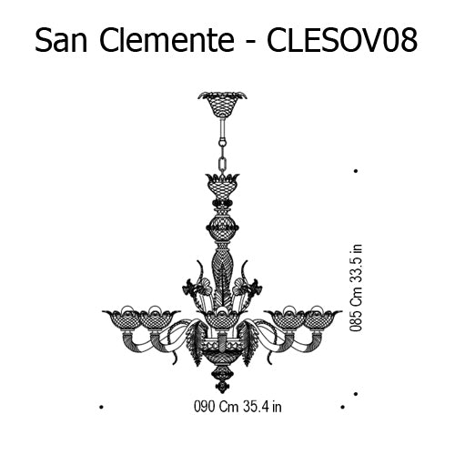 Buy online latest and high quality San Clemente Chandelier from Mazzega 1946 | Modern Lighting + Decor