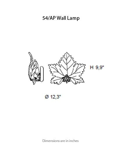 Buy online latest and high quality 54/AP Wall Light from ITALAMP | Modern Lighting + Decor