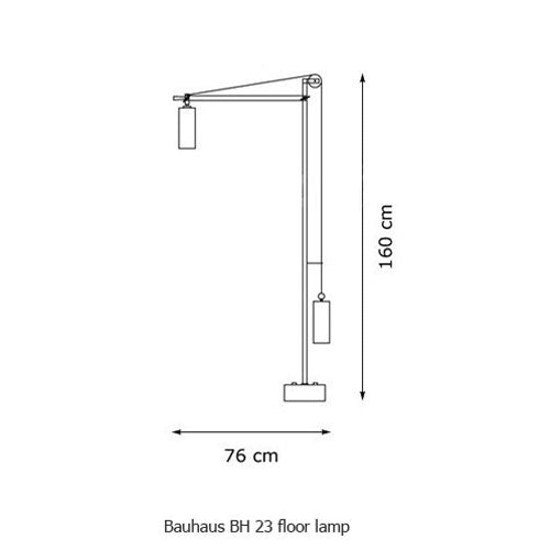 Bauhaus BH 23 floor lamp from Tecnolumen | Modern Lighting + Decor