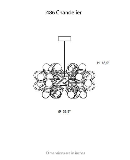 Buy online latest and high quality 486 Chandelier from ITALAMP | Modern Lighting + Decor