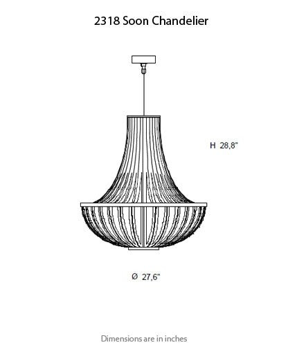 2318 Soon Chandelier from ITALAMP | Modern Lighting + Decor